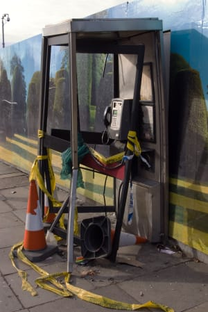 Crime - Smashed Phonebox