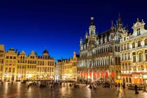 Brussels Belgium at night