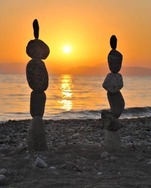 Seaside Art Stone Balancing