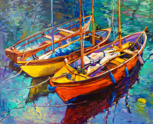 Seaside Art Boats