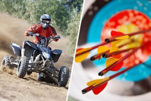 archery and quad biking