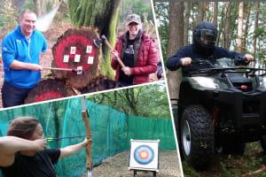 Adventure now multi activity axe archery quad