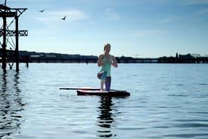 Standup Paddleboarding yoga