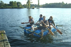 Wraysbury Lake Activity Centre, Raft Building