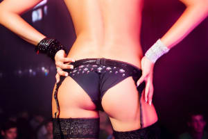 Stripper in Lap Dancing Club