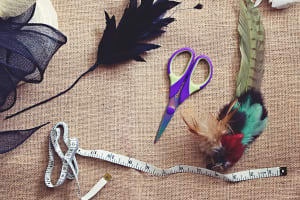 Fascinator making