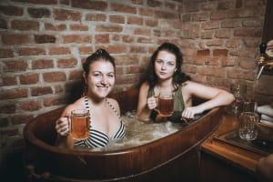 Prague Spa Beerland Hen Couple Beers