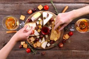 cheese board tasting