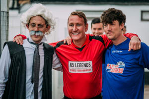 Play with a legend Ray Parlour