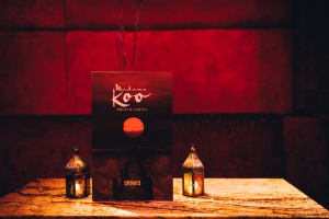 Madame Koo table and menu