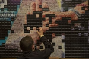 Giant Mosaic Making