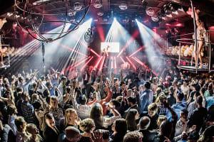 Duplex nightclub interior
