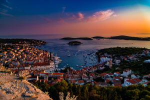 Hvar harbour at night