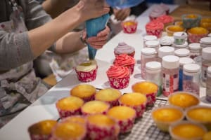 Cup cake making