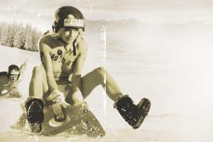 Naked Sledding Championship