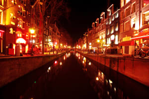 A tour of Amsterdam Red light district