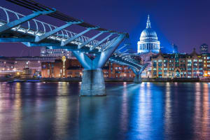 Millennium Bridge - St Paul Night