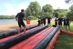 Slip'n Slide Race