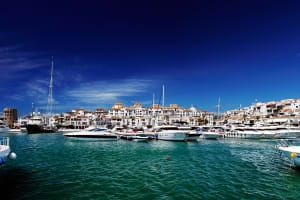 Marbella harbour