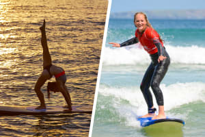 Yoga & Surfing hen