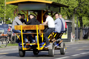 bar on wheels beer bike