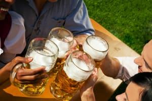 Beer Garden Visit & Beer