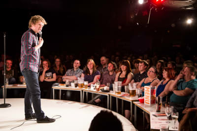 Glee Club Cardiff - Josh Widdecombe performing on stage