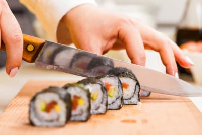 A sushi making workshop