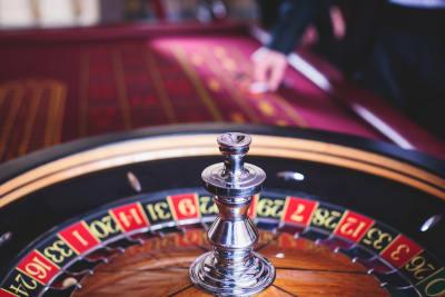 Casino night roulette table