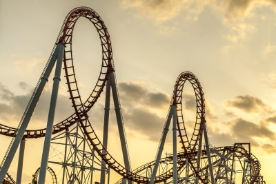 Image of a rollercoaster in a theme park