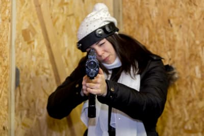 Riga Miltary Combat Laser Gun Shooting Hen