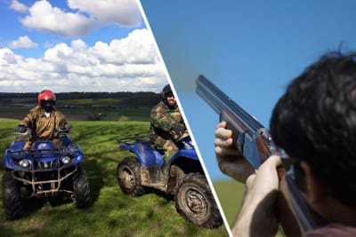 Quad and Clay Pigeon Shooting