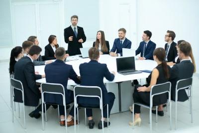 Office boradroom meeting - The Apprentice