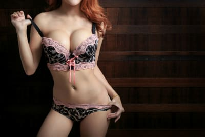 A female in her lingerie