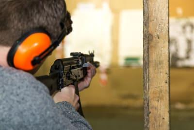 Riga Target Shooting Guns kalashnikov rifle stag crop