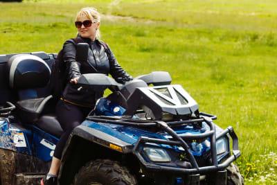 woman on quad bike