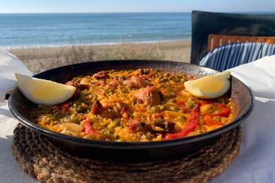Spanish paella on seafront