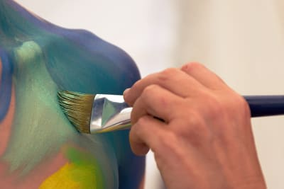 body painting hand
