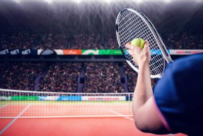 Sports matches STOCK tennis court