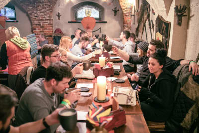 Group Medieval meal Riga