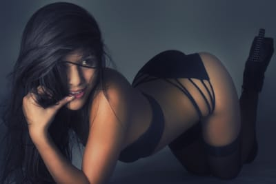 A sexy stripper for a strip dinner