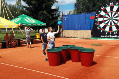 Giant beer pong Prague