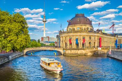A boat party in Berlin