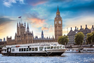 a river boat party cruise goes down the river Themes