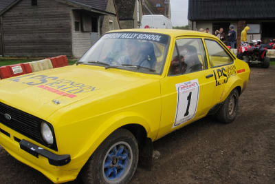A stag group doing rally driving