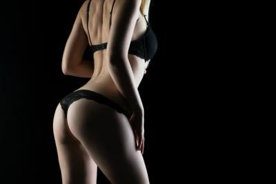 Female Stripper in Black Lingerie