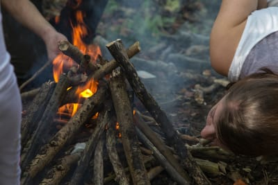 Bear Grylls survival training fire