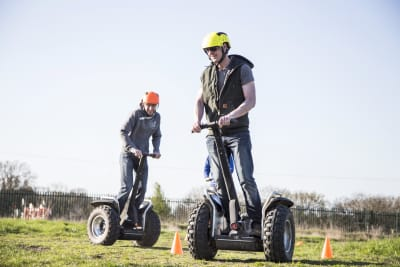 Stag group on segways