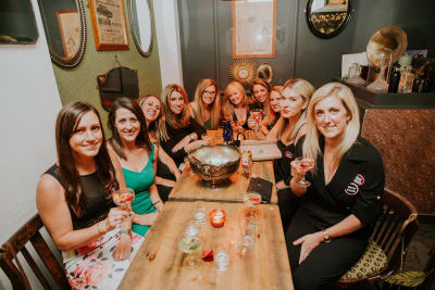 Speakeasy Table & Drinks Package The Dead Canary Group of Ladies