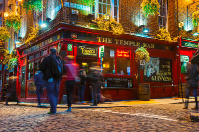 Temple Bar area in Dublin